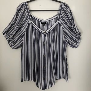 3/$12    Button-Up Striped Top